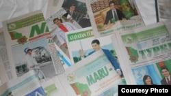 Фотографии президента Гурбангулы Бердымухамедова занимают основную часть публикаций всех туркменских газет