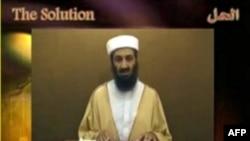 تصویری که از نوار ویدئویی تازه اسامه بن لادن گرفته شده است.