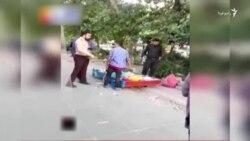 ضرب و شتم یک دستفروش توسط ماموران شهرداری