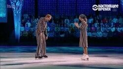 Жена пресс-секретаря президента России выступила на льду в костюме узника концлагеря (видео)
