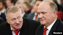 Володимир Жириновський (л) і Геннадій Зюганов