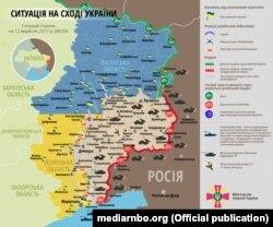 Сытуацыя ў зоне баявых дзеяньняў на Ўсходзе Ўкраіны 12 верасьня