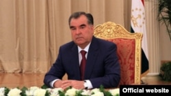 Tajik President Emomali Rahmon's campaign team apparently draws its inspiration from the leaders of Ukraine and Russia.