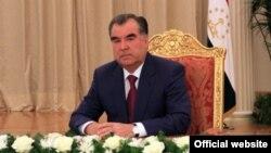 Тәжікстан президенті Эмомали Рахмон. Душанбе, 14 қазан 2013 жыл.