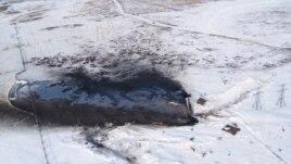 Разлив нефти на месторождении Требса