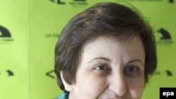 Shirin Ebadi in Madrid on February 16