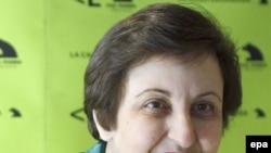 Shirin Ebadi in Madrid on February 16