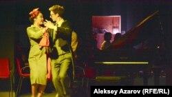 Спектакль театра «Жас Сахна» «Теория нитки. Звериные истории» (пьеса Д. Нигро) на V Международном фестивале исполнительских искусств. Алматы, 1 февраля 2018 года.