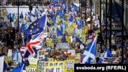 Londonda referendum tələbi ilə nümayiş