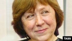 Писательница из Беларуси Светлана Алексиевич.