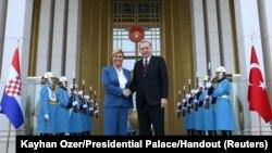 Posjet je unaprijed bio osuđen na neuspjeh: Božo Kovačević (na fotografiji: Kolinda Grabar-Kitarović i Recep Tayyip Erdogan, Ankara)