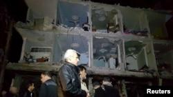 В районе Дамаска Сайид Зейнаб произошла серия взрывов, жертвами которых стали десятки людей, 21 февраля 2016 года