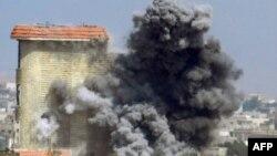 انفجاری در جریان درگیریها در استان حمص سوریه.