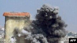 Pamje nga një bombardim në Homs