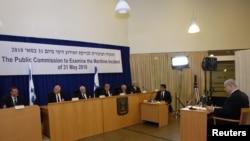 بنیامین نتانیاهو در برابر هیئت اسرائیلی مسئول تحقیقات درباره حمله نیروهای ارتش این کشور به کاروان کمکرسانی غزه