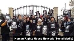 Ukraynada məhbus azərbaycanlılarla bağlı etiraz aksiyası