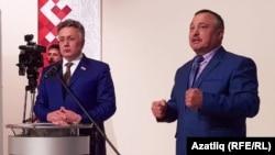 Илшат Әминов (с) һәм Васыйл Гарифуллин (у)
