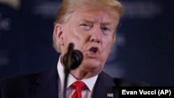 Дональд Трамп на пресс-конференции в Давосе, 22 января 2020 года
