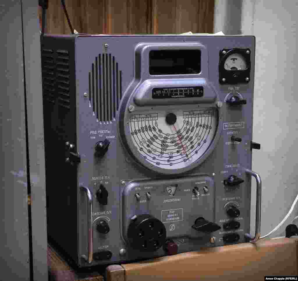 A radio receiver inside the communications room. According to local guide Regina Kinder, the bunker and almost everything inside remains as it was when the Soviet Union collapsed.
