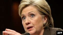 Hillary Clinton testifies before the Senate Foreign Relations Committee.