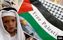 Антиизраильская демонстрация в секторе Газа. 2016 год