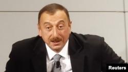Almaniya. İlham Əliyev Münhen Təhlükəsizlik Konfransında çıxış edərkən. 03 fevral 2012 (Reuters: Michael Dalder)
