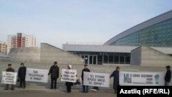 Уфадагы татар активистлары узган елның октябрендә җанисәптә хәрәмләшүгә каршы чара үткәргән иде