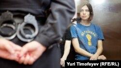 Надежда Толоконникова в день оглашения приговора в Хамовническом суде