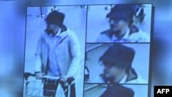 """Брюссель әуежайында жарылыстар болған күні бейнебақылау камерасына түсіп қалған """"қалпақ киген адам""""."""