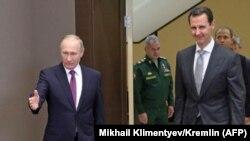 Presidenti i Rusisë, Vladimir Putin, dhe ai Sirisë, Bashar al-Assad.