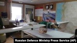Фотография дрона, опубликованная Минобороны России