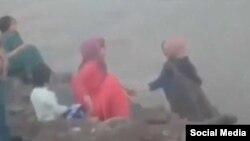В момент трагедии. Кадр из видеозаписи