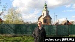 Каля грэка-каталіцкай царквы ў Полацку