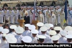 Янукович и Путин на праздновании Дня ВМФ России и Дня флота Украины
