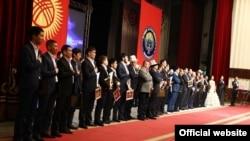 SPORT AWARDS-2014 аземинин сыйлык ээлери. 17-январь, 2015-ж. Бишкек.