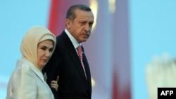 رجب طیب اردوغان و همسرش امینه