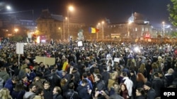 PHOTO GALLERY: More Protests In Romania After Prime Minister Steps Down