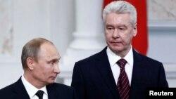 Новообраний мер Москви Сергій Собянін і президент Росії Володимир Путін на інавгурації, 12 вересня 2013 року