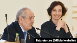 Миңтимер Шәймиев һәм Одри Азуле