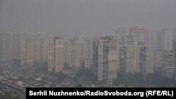 Сәуір айында Чернобыль маңындағы орман өртеніп, одан тараған түтін Киевті басып қалды. Украина, 18 сәуір 2020 жыл.