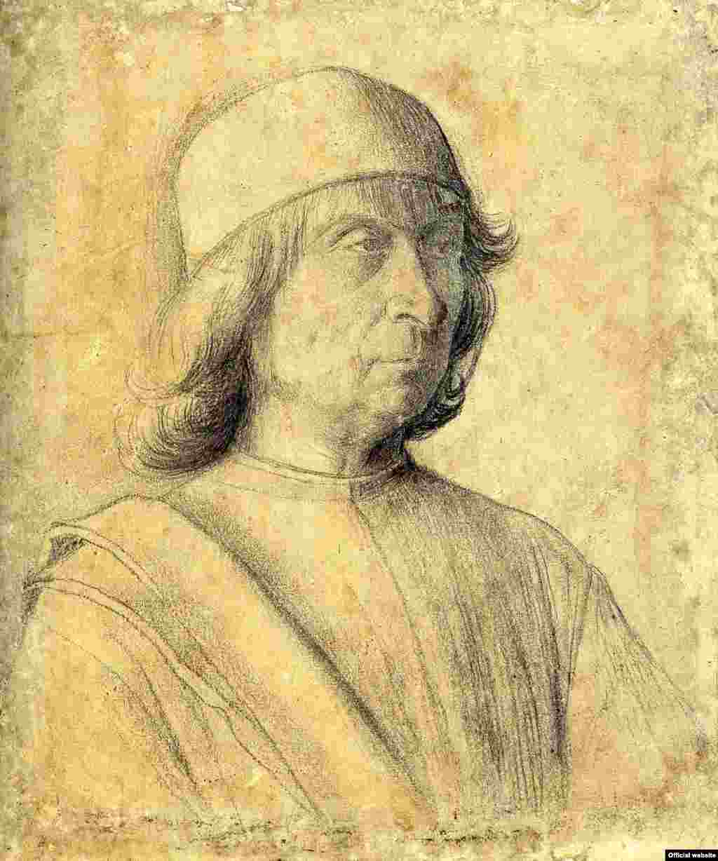 Gentile Bellini Portretul unui bărbat (autoportret?), c 1496 Berlin, National Museums in Berlin, Kupferstichkabinett © National Museums in Berlin, Jörg P. Anders (photo: Bode Musem press service courtesy)