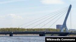 Мост через Дудергофский канал, которому власти хотят присвоить имя Ахмата Кадырова