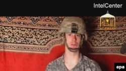 Private Bowe Bergdahl appears in a still from the video reportedly released by the Taliban.