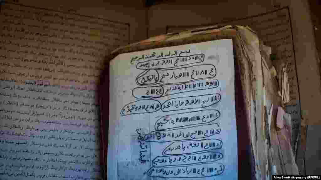 Книги і вцілілі їх частини арабською мовою, імовірно, релігійна література кримських татар різних часів
