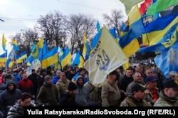 Під час «Маршу добровольців», Дніпро, 17 березня 2018 року