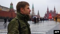 Народний депутат України Олексій Гончаренко під час маршу пам'яті Бориса Нємцова. Москва, 1 березня 2015 року
