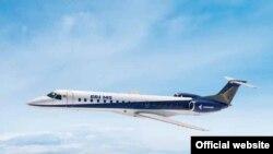 هواپیما مدل ای آر جی ۱۴۵ است که یک هواپیما منطقهای تک راهرو کوچک محسوب می شود و برای مسیرهای کم مسافر یا فرودگاههای کوچک بیشتر کاربرد دارد.
