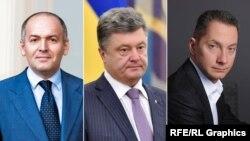 Віктор Пінчук, Петро Порошенко і Борис Ложкін (комбіноване фото)