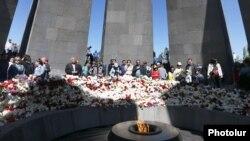 Përkujtimi i viktimave të gjenocidit ndaj armenëve. Jerevan, Armeni, 2018.