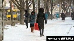Непогода в Крыму, архивное фото